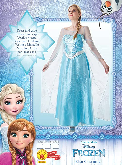 Frozen - Disfraz de princesa Elsa para mujer, talla M adulto ...