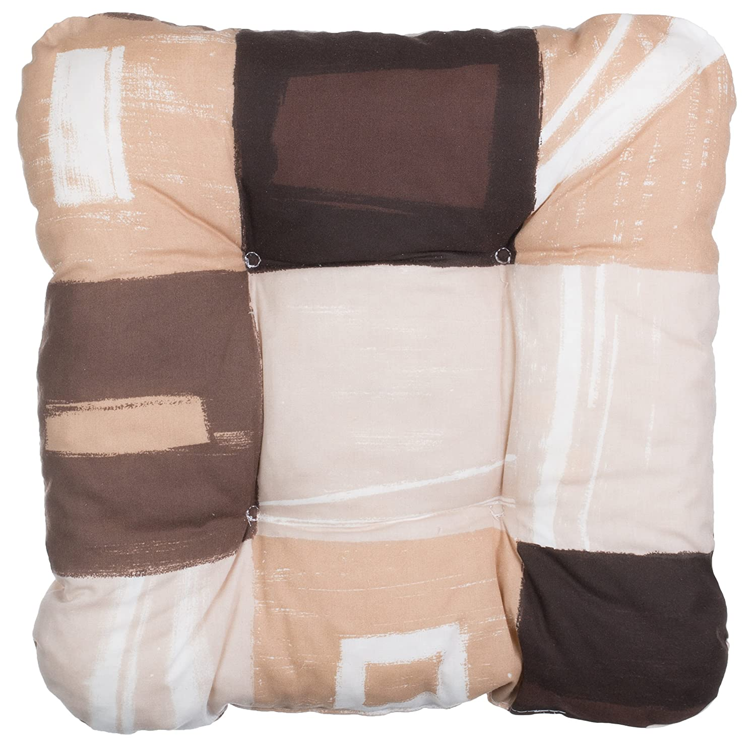Brand Sseller Dining Chair Cushion Seat Cushion Seat Cover Pad for Indoor and Outdoor Use, 38x 38x 8cm–Various Colours, Beige/Kariert, 1 Brandsseller