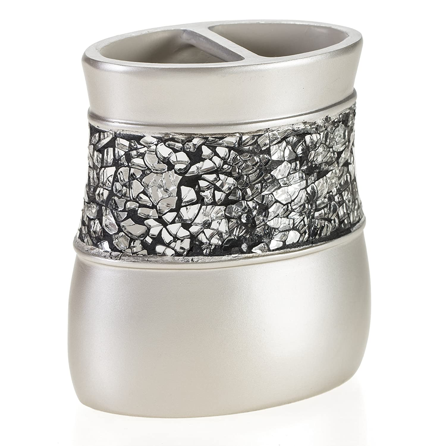 Amazon.com: Creative Scents Bathroom Silver Toothbrush Holder ...
