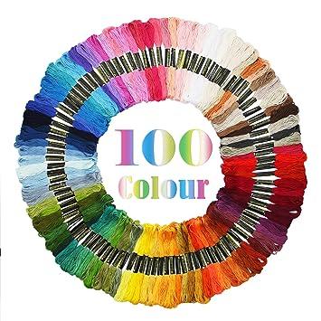 Amazon.com: maggift Rainbow Color pulseras de hilos de punto ...