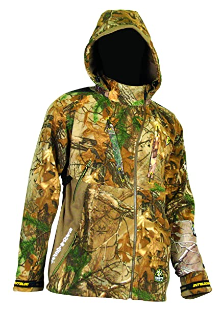 0e36d646976f6 ScentBlocker Alpha Jacket with Windbrake, Mossy Oak Break Up Infinity,  Medium