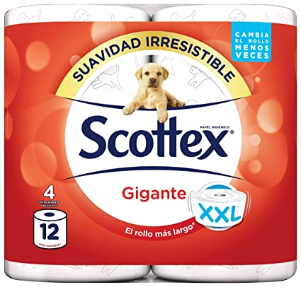 Scottex Gigante Papel Higiénico - 4 Rollos