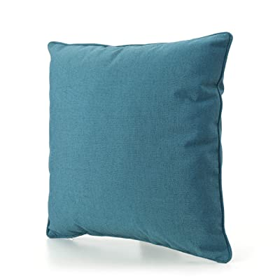 Christopher Knight Home 300728 Coronado Outdoor Pillow, Teal : Garden & Outdoor