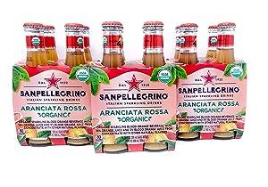 San Pellegrino Aranciata Rossa Sparkling Blood Orange Flavoured Beverage, 6.75 Oz Glass Bottle (Pack of 12, Total of 81 Oz)