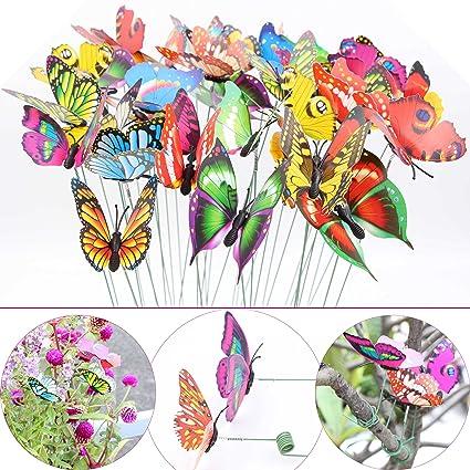 LeBeila Butterfly Stakes U2013 Garden Yard Ornaments U0026 Patio Décor Butterflies  Waterproof Butterfly Decorations For Indoor
