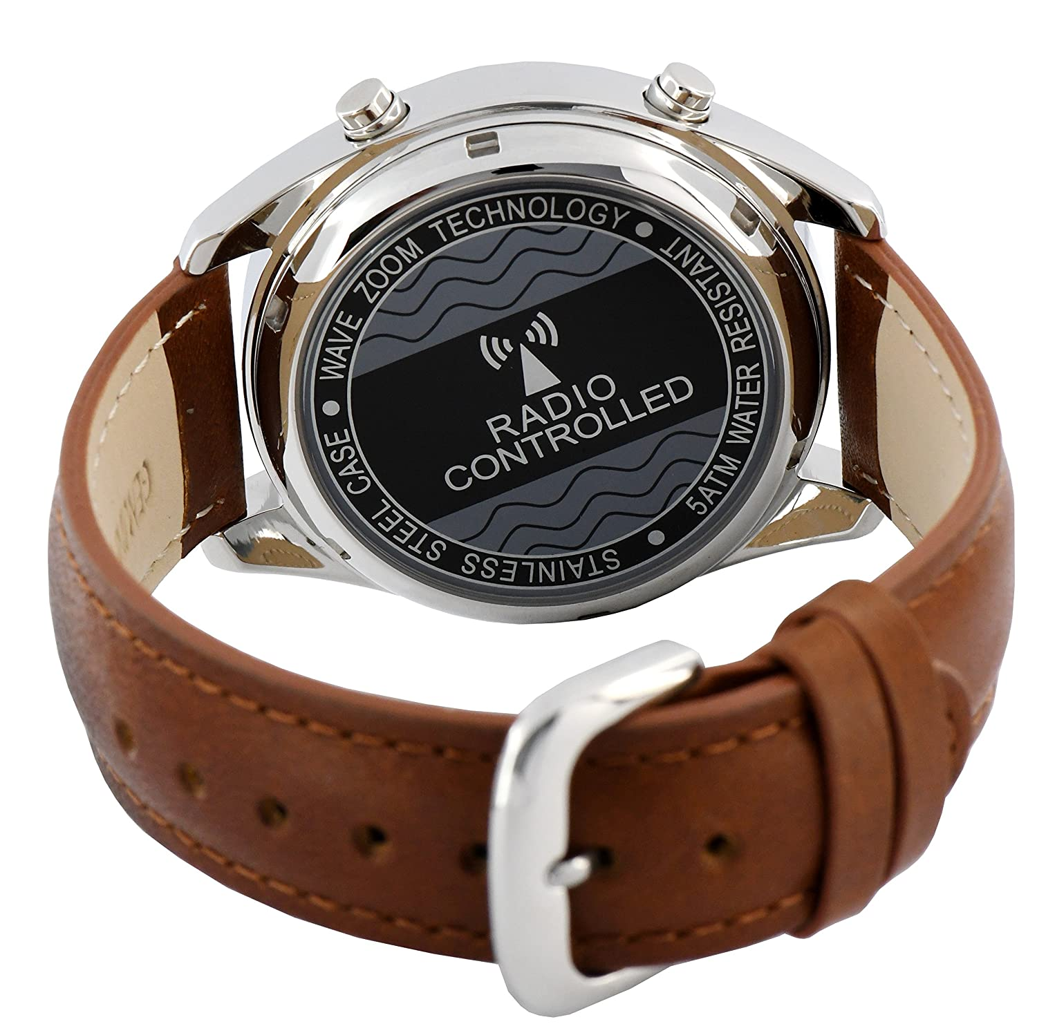 Amazon.com: COOLFIRE Military Solar Power Radio Controlled Watch (TC-1383K): Health & Personal Care