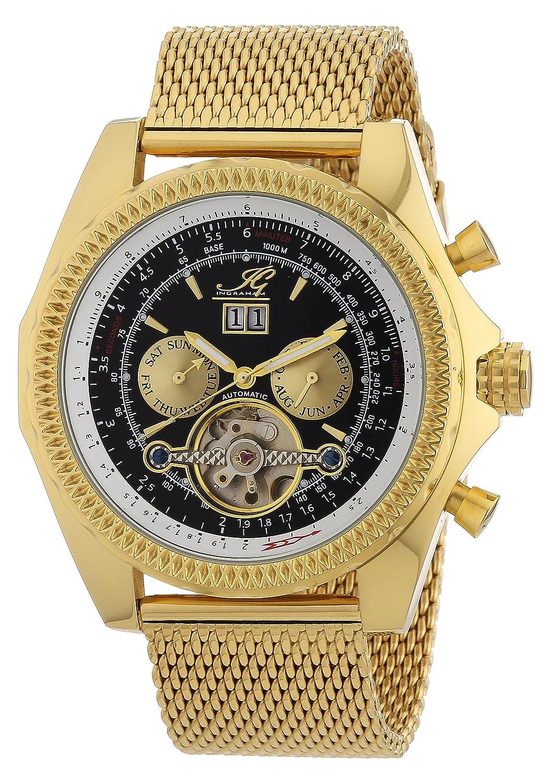 Ingraham Herren-Armbanduhr XL Pescara Analog Automatik Edelstahl beschichtet IG PESC.1.222207