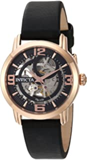 Invicta Womens Objet dArt Stainless Steel Automatic-self-Wind Watch with Satin