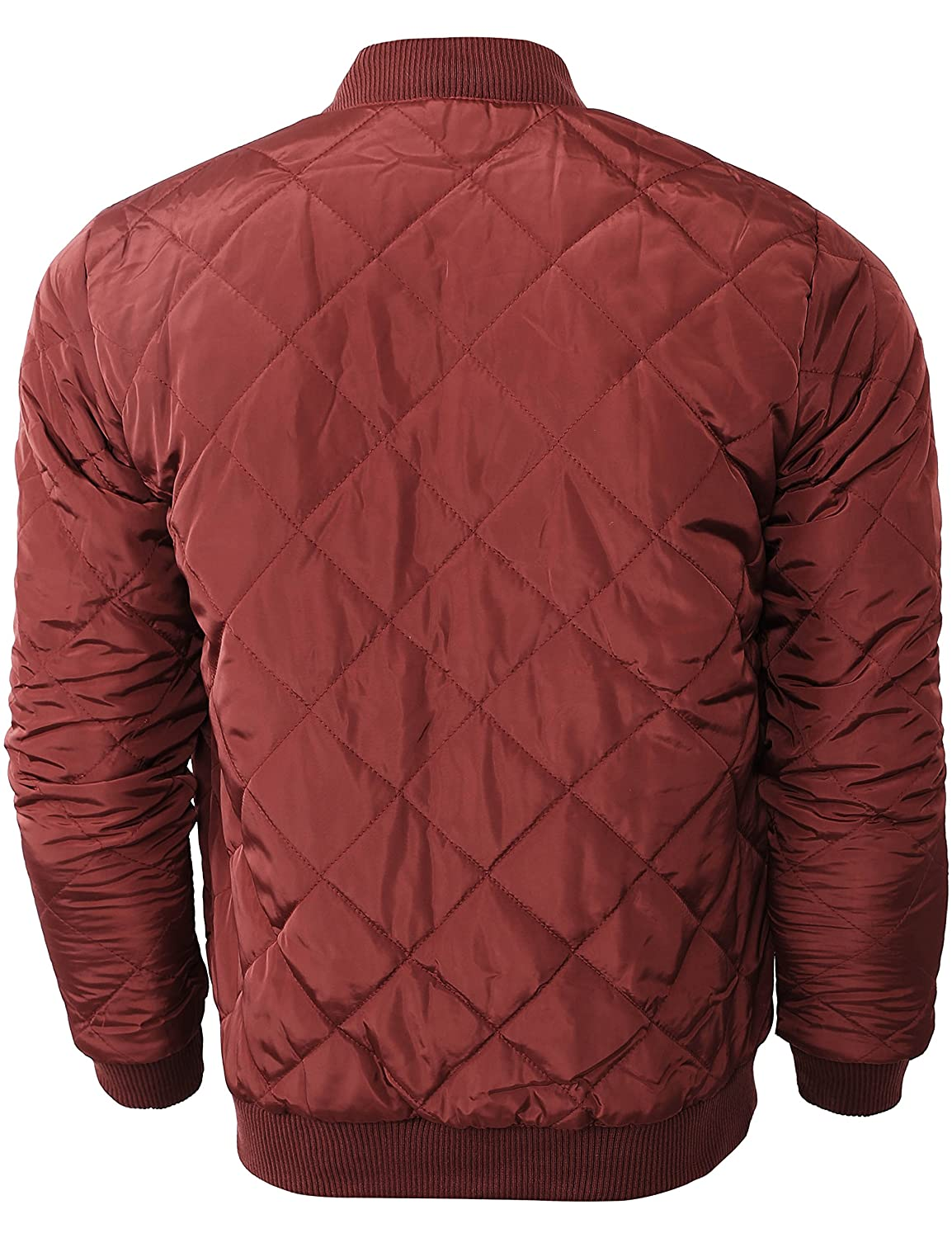 Hat and Beyond Mens Quilted Padded Bomber Jackets Lightweight Casual Zip Up Insulated Puffer