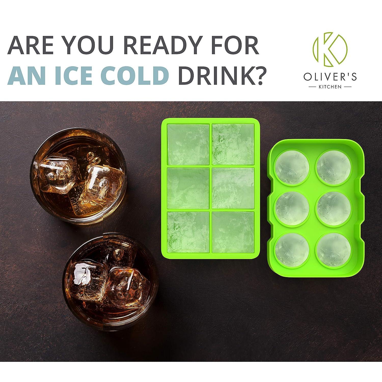 Olivers Kitchen - Juego de 2 bandejas para cubitos de hielo ...