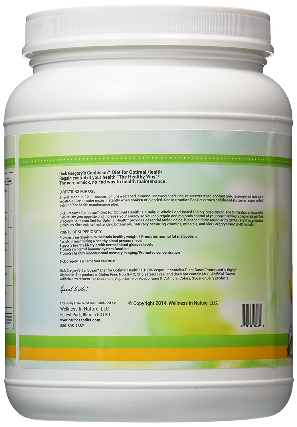 Dick gregorys enzymatic weight loss programs