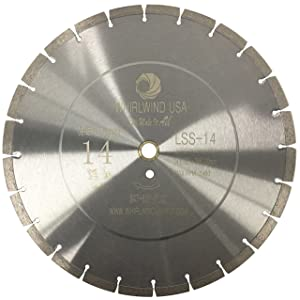 """Whirlwind USA LSS 14 in. Dry or Wet Cutting General Purpose Power Saw Segmented Diamond Blades for Concrete Stone Brick Masonry (14"""")"""