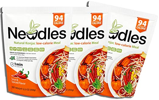 Newdles Konjac/Shirataki Comida baja en calorías (sabor ...