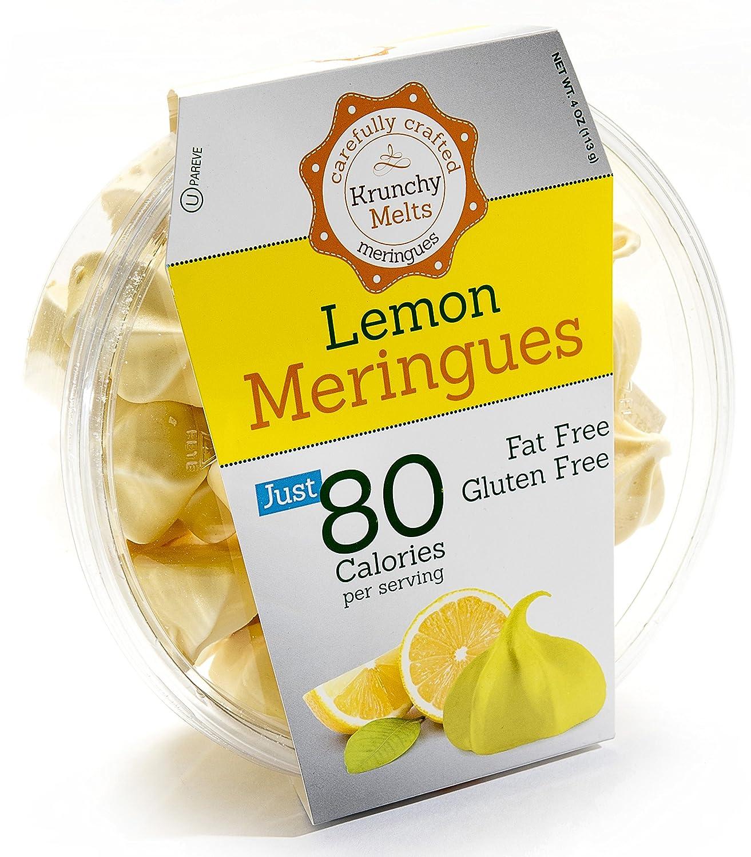 Original Meringue Cookies (Lemon) • 80 calories per serving, Gluten Free, Fat Free, Nut Free, Low Calorie Snack, Kosher, Parve • by Krunchy Melts