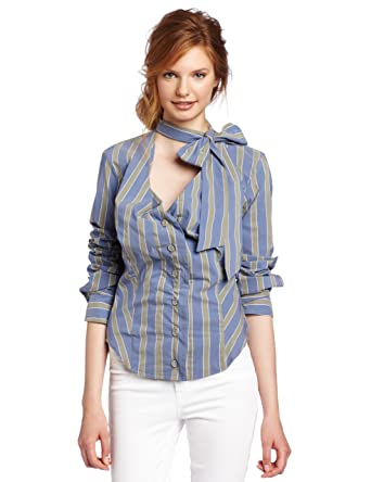 69ad34549633cc Amazon.com: Vivienne Westwood Anglomania Women's Wizard Bow Blouse: Clothing