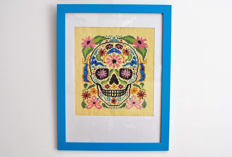 Amazon.com: El Dia de los Muertos 1 - Cross Stitch in Frame: Handmade