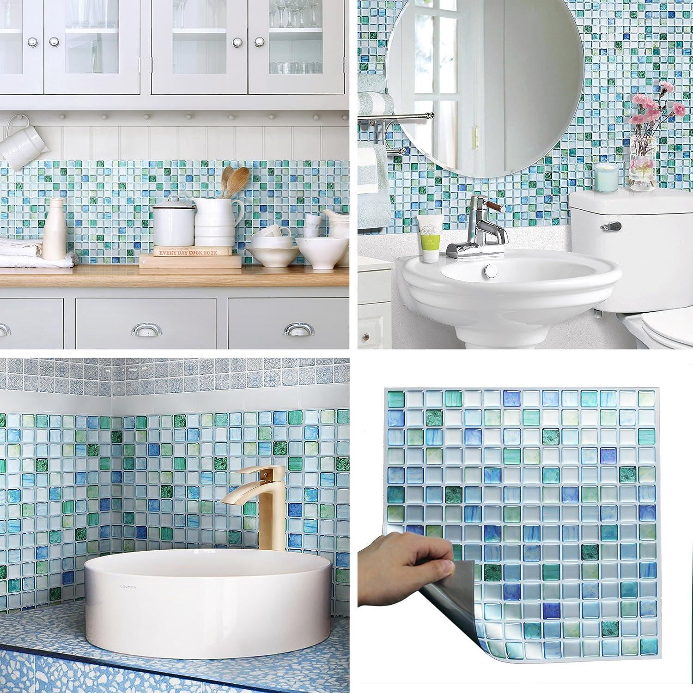 - Amazon.com: Beaustile Decorative Tile Stickers Peel Stick