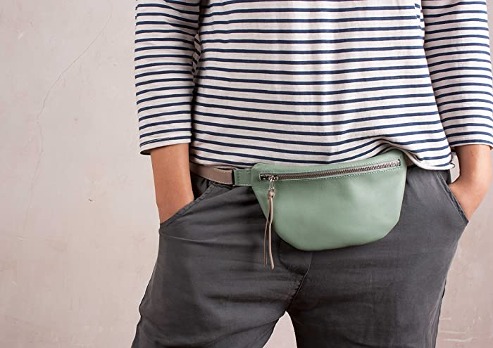 8bee4db8d4c Small Leather Fanny Pack, leather Waist bag, women fanny pack, small ...