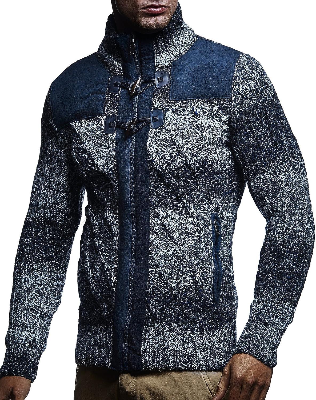 LEIF NELSON Men's Knit Jacket LN20225
