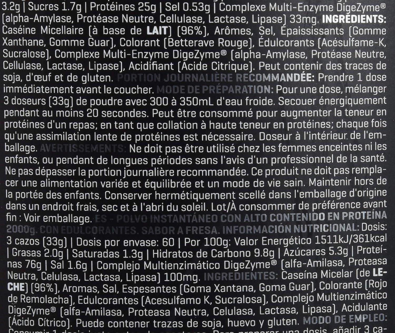 Prozis NUT00/1410590003 Xtreme Casein SS - 2 Kg: Amazon.es ...