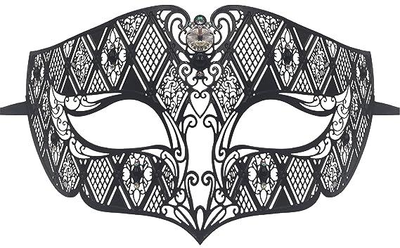 amazon com luxury mask diamond design laser cut venetian masquerade