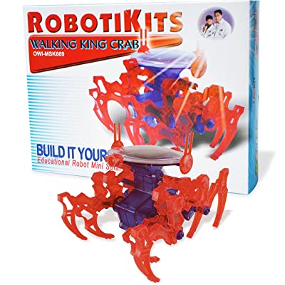 OWI Walking King Crab Kit Solar Powered: Toys & Games