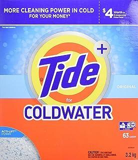 Tide Plus HE Turbo Coldwater Powder Laundry Detergent, Original Scent, 3.2 kg (63