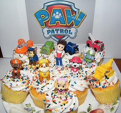 Amazon.com: Nickelodeon PAW Patrol juego de 12 figuras de ...
