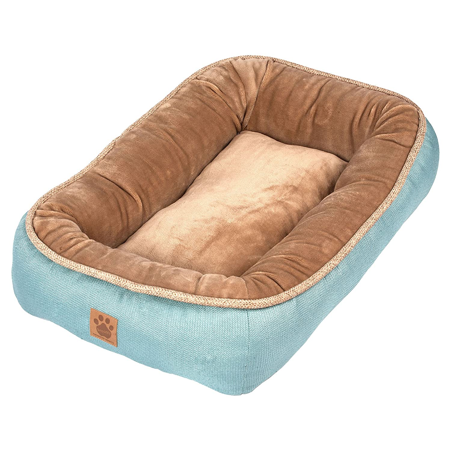 Precision Pet SnooZZy Rustic Elegance Low Bumper Bed Teal
