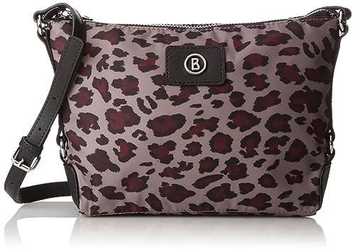 Lea-Small Aisha Womens Shoulder Bag, Multicoloured (Leopard/slate), 9x26x33 cm (B x H T) Bogner