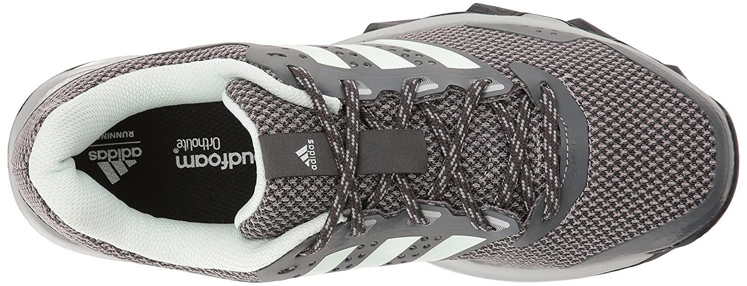 adidas Women's Duramo 7 Trail W Running Shoe B01HJ2V3AC 10 B(M) US|Dark Grey Heather/Ice Mint/Grey