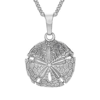 Amazon kabana sand dollar pendant necklace in sterling silver kabana sand dollar pendant necklace in sterling silver aloadofball Image collections