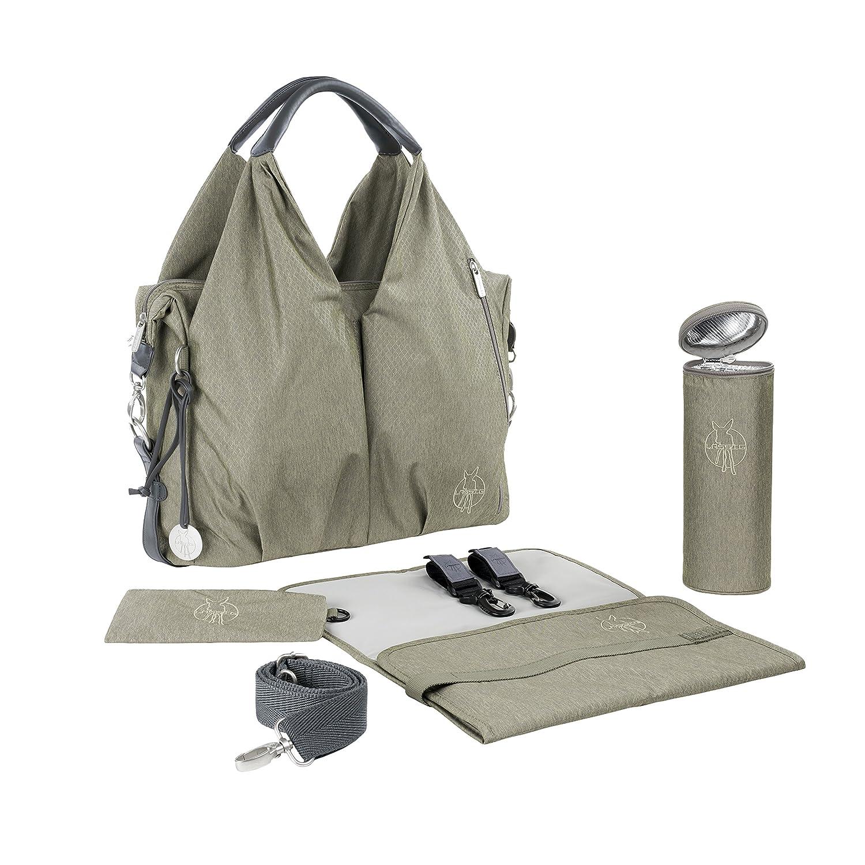 Lassig Green Label Neckline Diaper Bag-One Size, Spin Dye Blue Melange 1101001405