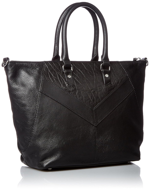 Diesel Zipper Le-ninnaHandbag, Sacs portés main femme, Black, 13x25x38 cm (W x H L)