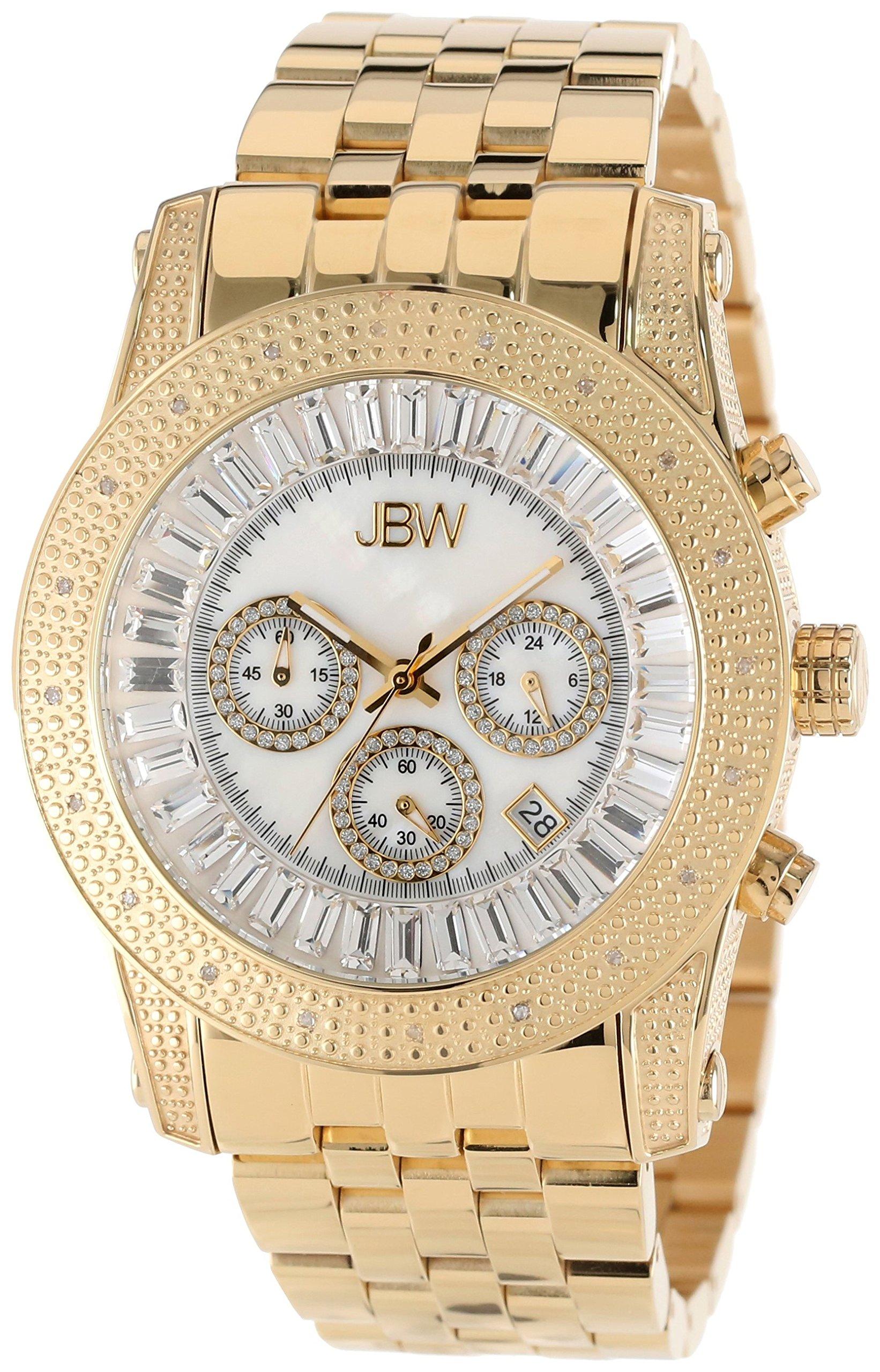 "Jbw Men's Jb-6219-F ""Krypton"" Gold Chronograph Diamond Watch 8"