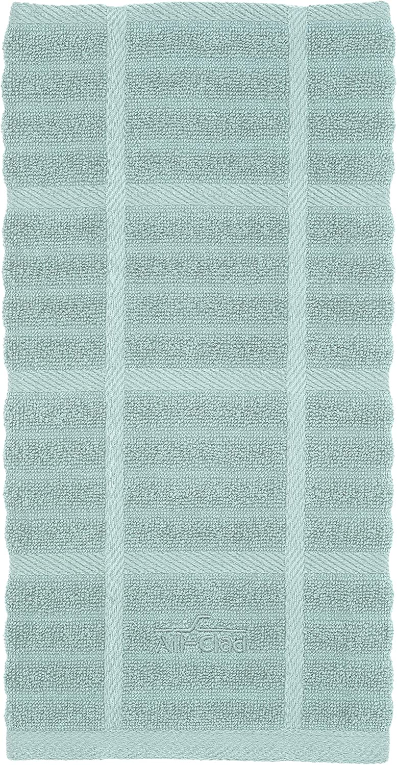 All-Clad Textiles 100-Percent Combed Terry Loop Cotton Kitchen Towel, Oversized, Highly Absorbent and Anti-Microbial, 17-inch by 30-inch, Solid, Rainfall