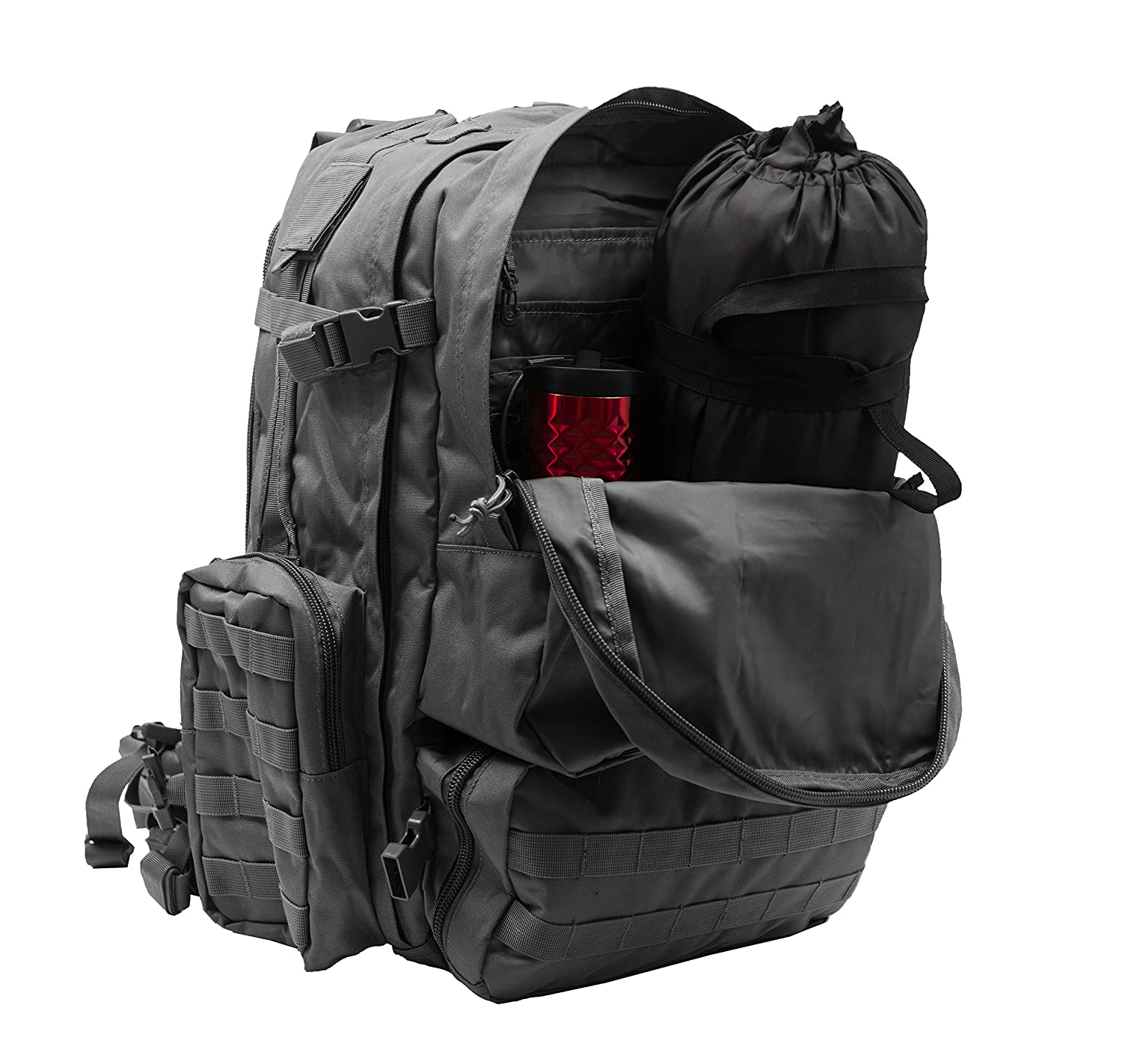 301700ecb798 Amazon.com   World Famous Sports Large 3 Day Tactical Backpack ...