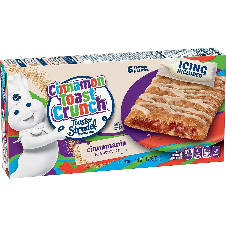 Pillsbury Toaster Strudel, Cinnamon Toast Crunch, 6 Frozen Pastries, 11.7 oz