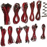 Corsair CP-8920155 Pro-Set - Set de cables (macho/macho, RMi series, RMx series, SF series), Rojo (Red/Black)