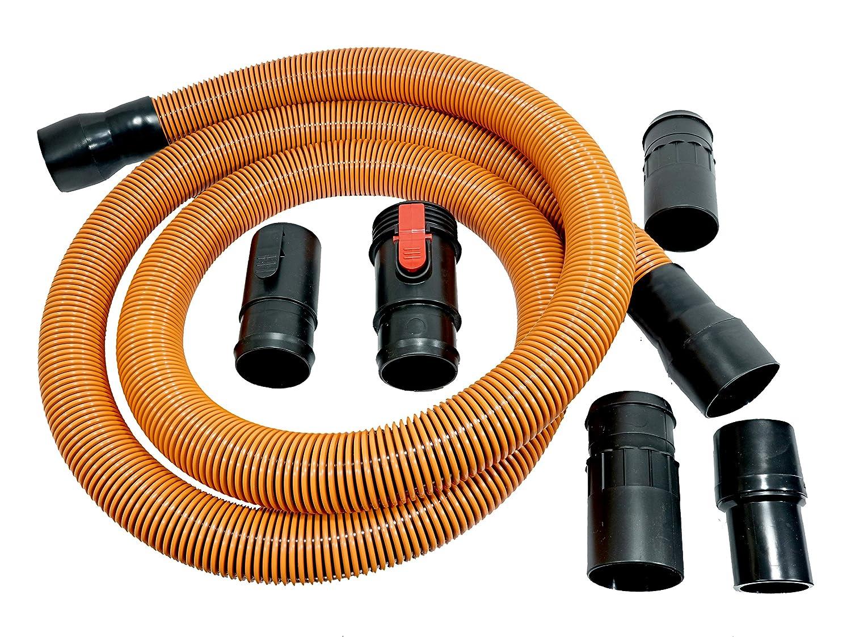 Ridgid VT2570 Genuine OEM 1-7/8 Inch x 10 Foot Wet / Dry Vacuum Hose Extension / Replacement Set (6 Pieces: 1 x 4X Pro Hose, 5 x Connection Adaptors)