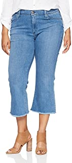 product image for James Jeans Women's Plus Size Kiki Crop Flare Jean in Genie Blue