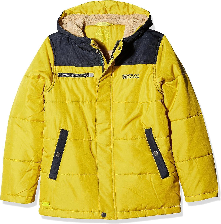 Regatta Boys Boys Zipper II Warm Insulated Fleece Panel Quilt Padded Jacket