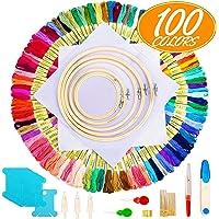 Aimego Kits de Punto de Cruz, 100 PCS