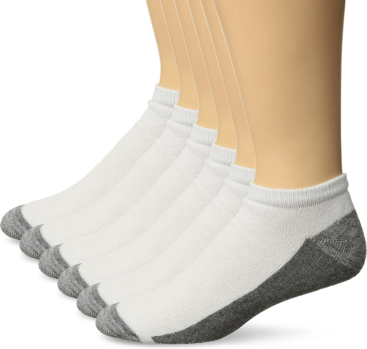 Hanes Men's Comfortblend Max Cushion 6-pack White Low Cut Socks, Shoe Size: 6-12
