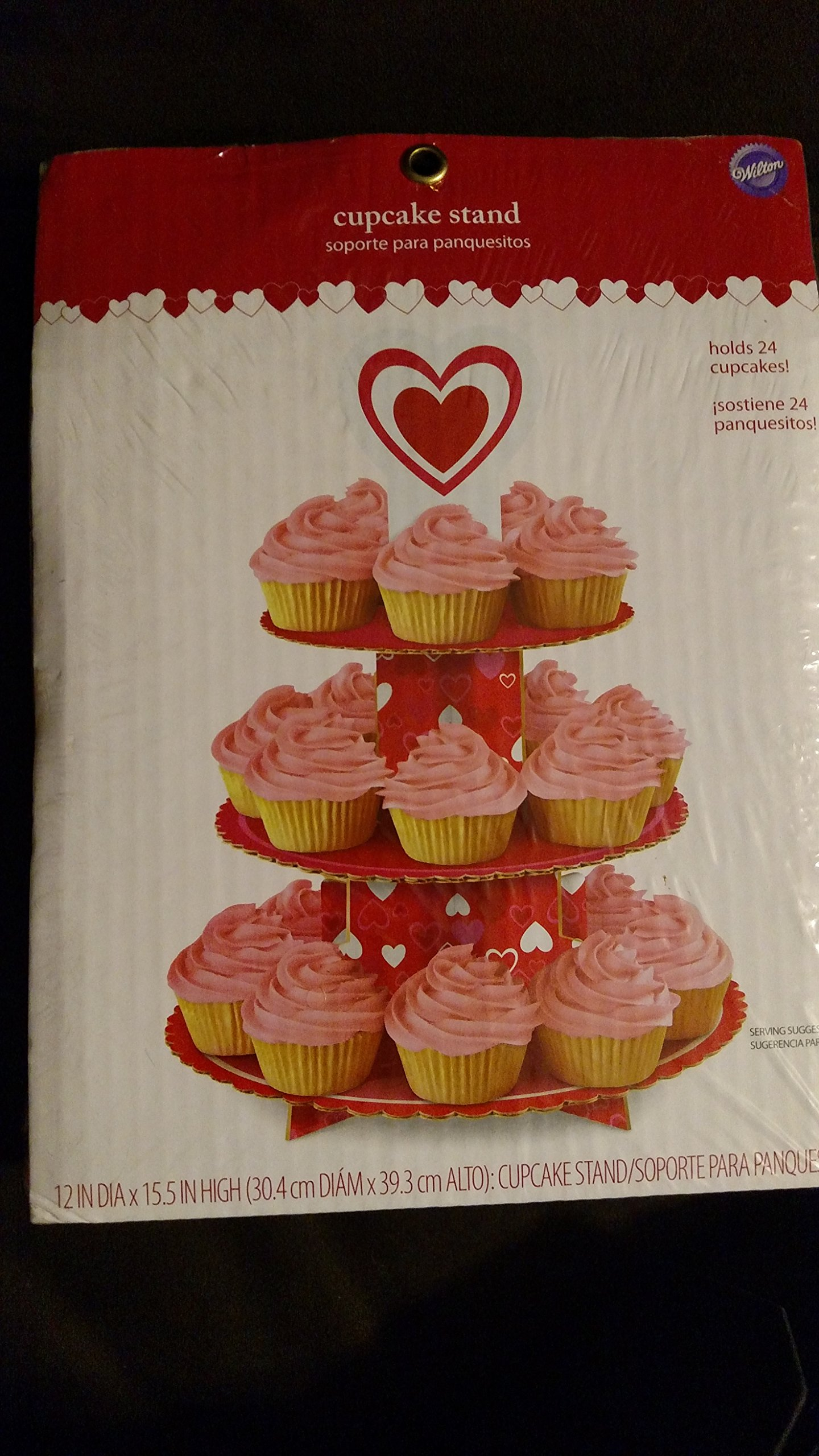 Wilton Heart Cupcake Stand - Holds 24 Cupcakes!