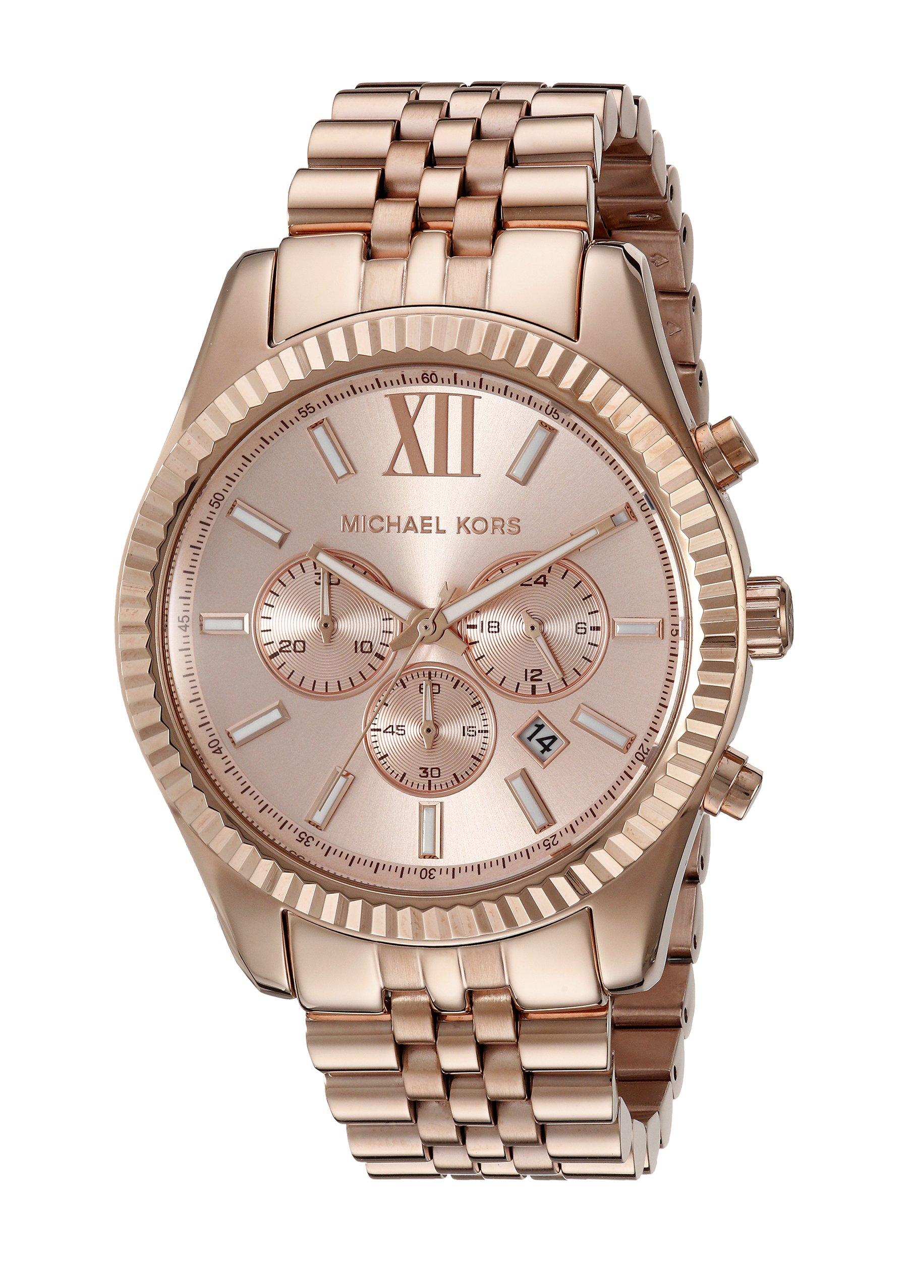 Michael Kors Oversize Rose Golden Stainless Steel Lexington Chronograph Women's watch #MK8319 by Michael Kors