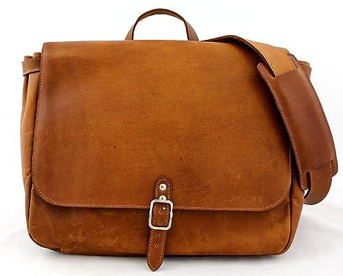 Postman (M) Vintage Leather Bag Shoulder Bag Unisex (A4) PAUL MARIUS Vintage 6a390b4889b77