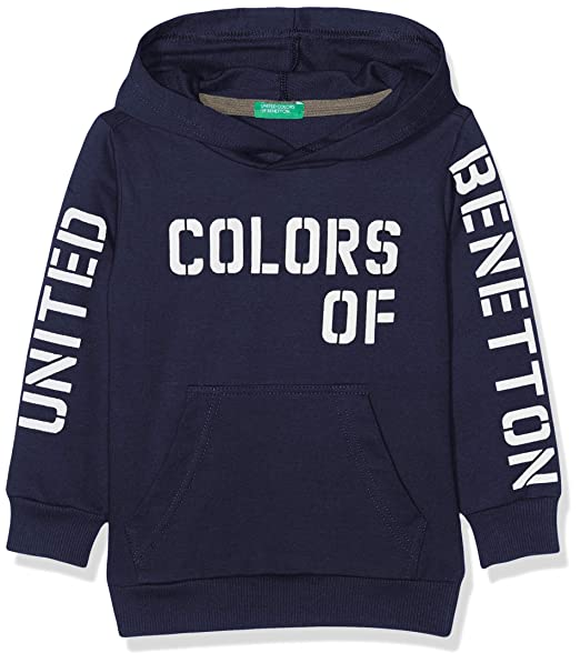 United Colors of Benetton Niños Sweater W/Hood suéter Not Applicable, Azul (BLU
