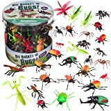 Toy Bug Action Figure Set - 30 Piece Playset, 15 Unique Sculpts- Giant Insects Educational Toy Playset (Ants, Tarantula…