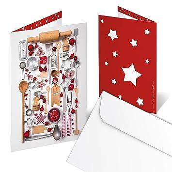 Weihnachtskarten Blanko.100 Stück Rot Weiße Nostalgische Weihnachtskarten Klappkarten Blanko